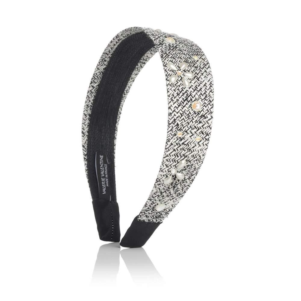 Serre-tête tweed, cristaux et perles Swarovski® CAMILA